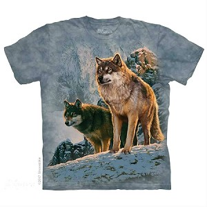 Wolf Couple Sunset - 10-5938 - Adult Tshirt