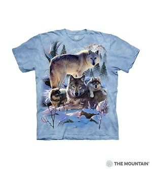 Wolf Family Mountain - 15-6283 - Youth Tshirt