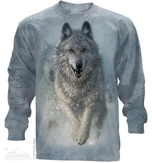 Snow Plow Wolf - 45-3673 - Adult Long Sleeve T-shirt