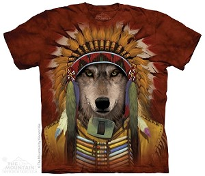 Wolf Spirit Chief - 10-3992 - Adult Tshirt