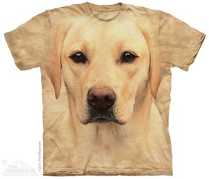 Yellow Lab Portrait - Adult Tshirt