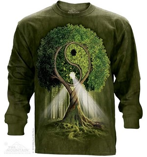 Yin Yang Tree - Adult Long Sleeve T-shirt - 45-3209