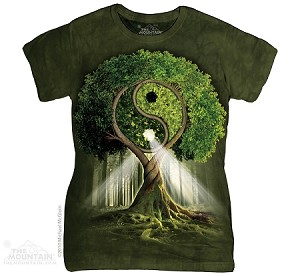Yin Yang Tree - Ladies Fitted Tee