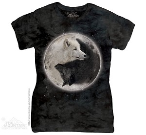 Yin Yang Wolves - Ladies Fitted Tee