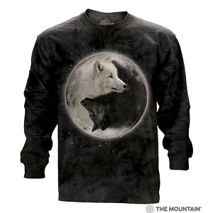 Yin Yang Wolves - 45-3922 - Adult Long Sleeve T-shirt